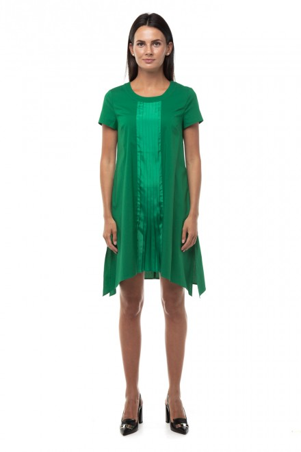 Платье зеленое с разрезами Steffen Schraut