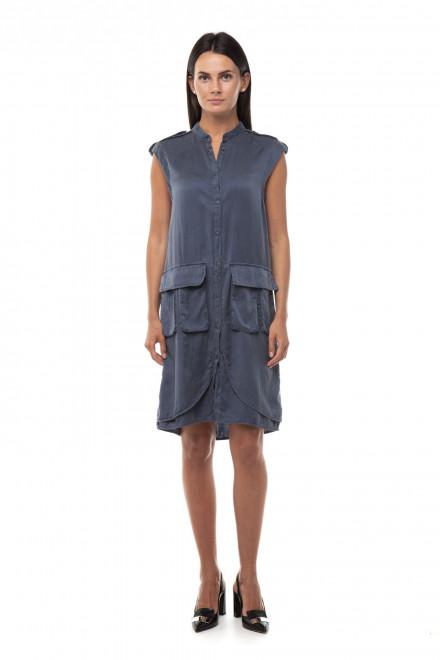 Платье женское синее из натурального материала Blauer