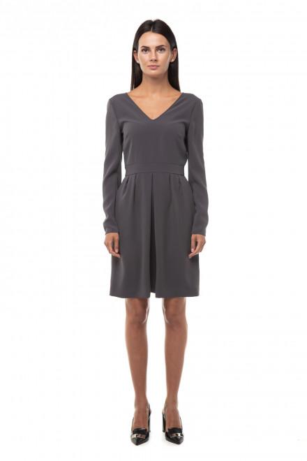 Платье женское серое приталенное с длинным рукавом Steffen Schraut