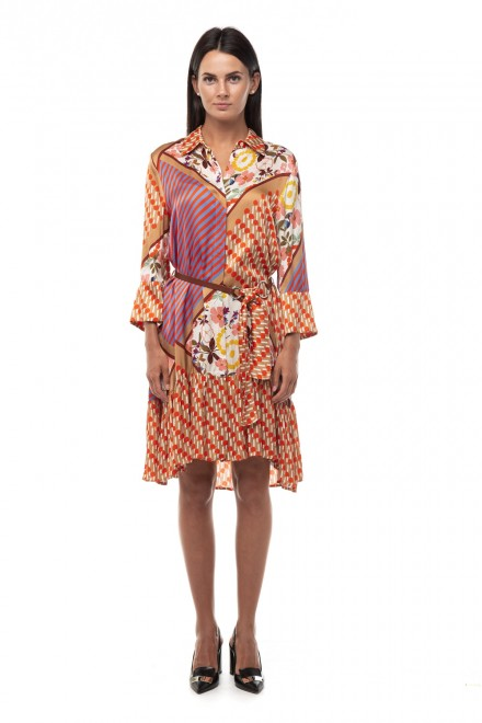 Платье женское мультипринт средней длины Sfizio
