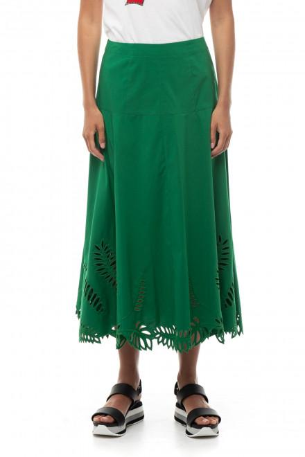 Юбка женская с кружевом зеленая Steffen Schraut
