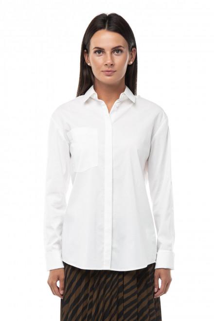 Блуза женская белая с длинным рукавом на пуговицах Steffen Schraut