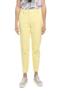 Штаны женские желтые из габардина зауженные со средней посадкой Rich & Royal