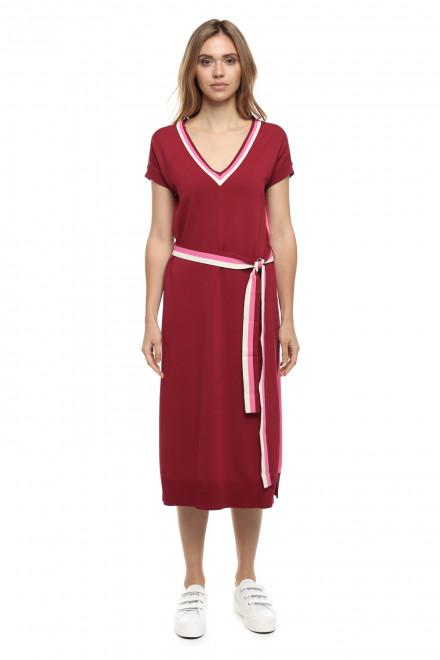 Платье бордовое Le Coeur