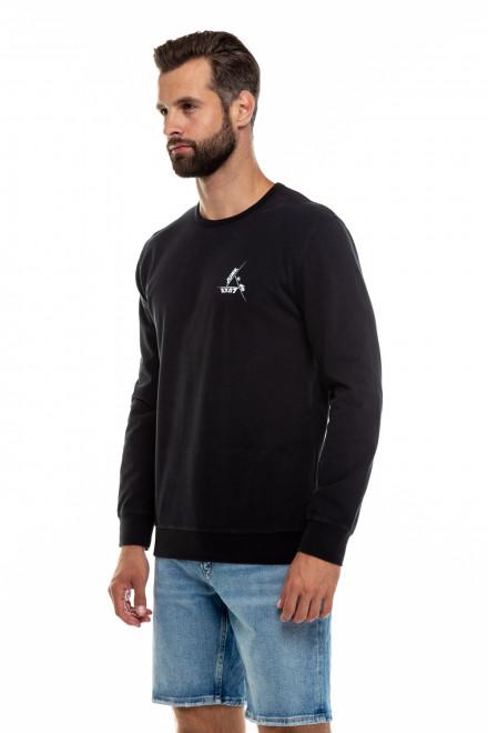 Світшот чоловічий чорний з логотипом Junk de Luxe