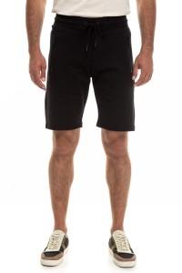Шорты мужские черные на шнурке свободного кроя трикотажные  Antony Morato