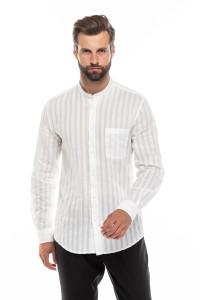 Рубашка мужская белая с воротником-стойка Antony Morato
