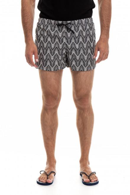 Шорты для плавания мужские серые в геометрический принт Antony Morato