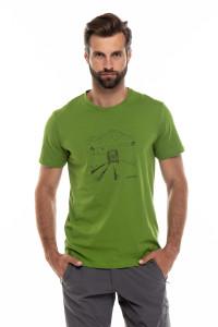 Футболка мужская зеленая с принтом Craghoppers