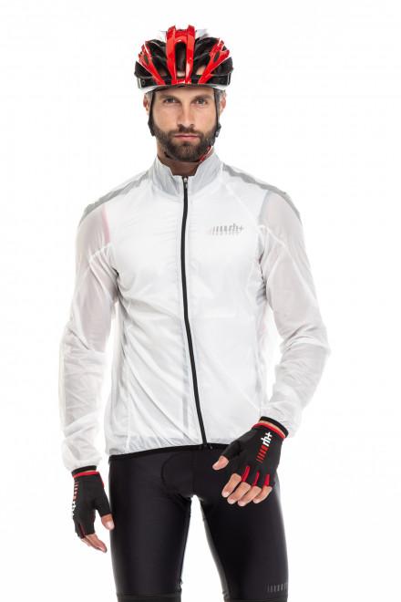 Куртка унисекс белая ветрозащитная RH+