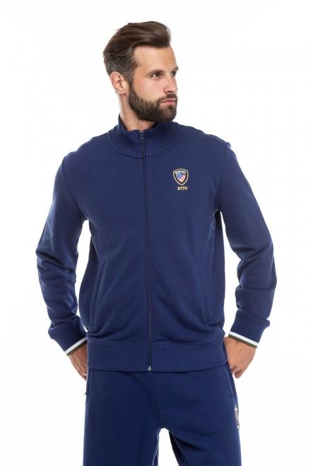 Кардиган мужской синего цвета на молнии Blauer. USA