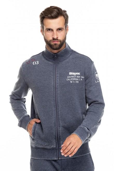 Кардиган мужской серый с карманами Blauer. USA
