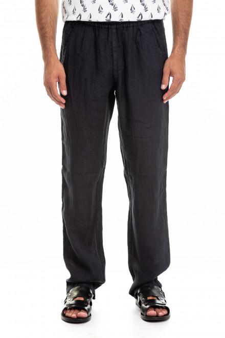 Черные льняные штаны Pal Zileri LAB