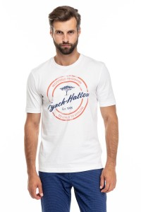 Футболка мужская с принтом и логотипом Fynch Hatton