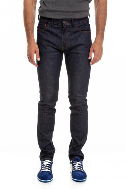 Штаны джинсы мужские зауженные темно-синие Pal Zileri