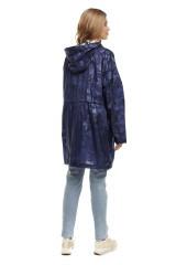 Плащ женский синий на молнии, с карманами Blauer