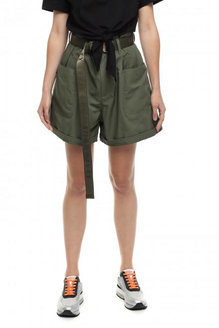 Шорты женские (сафари) зеленые укороченные Miss sixty