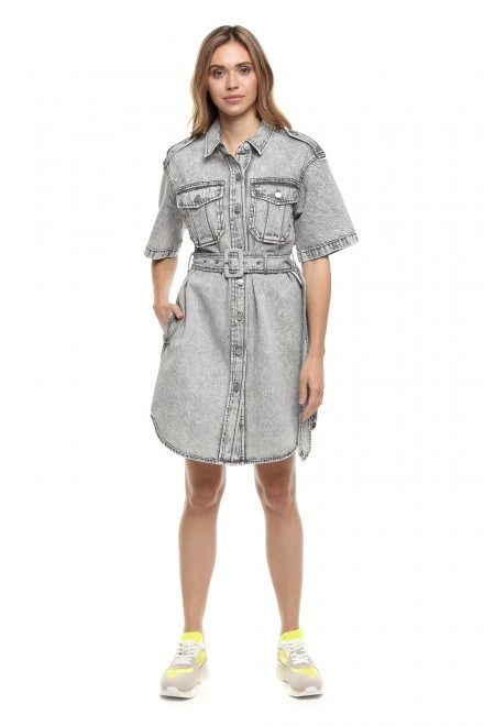 Платье женское на пуговицах, с поясом Miss Sixty
