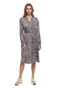Платье женское с длинным рукавом и поясом Repeat
