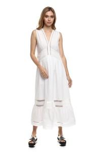 Платье женское длинное летнее белое из хлопка Riani