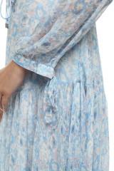 Платье женское из легкой ткани, летнее, голубое, с принтом Miss Sixty