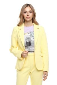 Женский летний пиджак лимонного цвета с длинными рукавами Rich & Royal