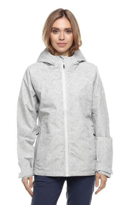 Куртка женская светло-серая с капюшоном Craghoppers