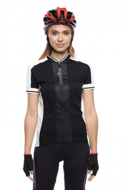 Футболка женская велосипедная спортивная черная с логотипом Zero rh+