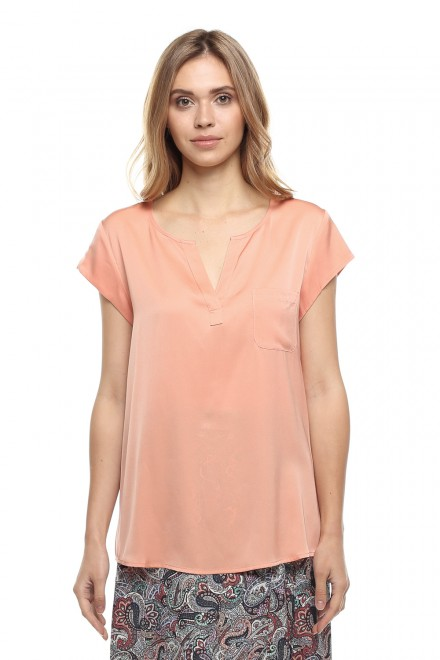 Блуза женская шелковая с короткими рукавами Repeat
