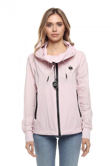 Куртка женская с капюшоном, легкая, розового цвета Blauer