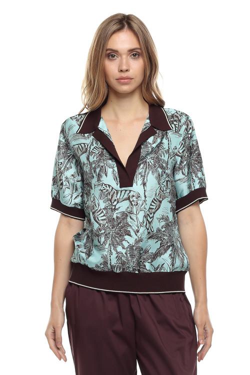 Женская блуза в принт Beatrice .b