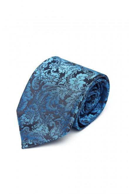 Галстук и платок сине-черный с рисунком Dolcepunta