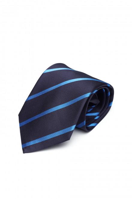 Галстук синий в косую полоску Dolcepunta