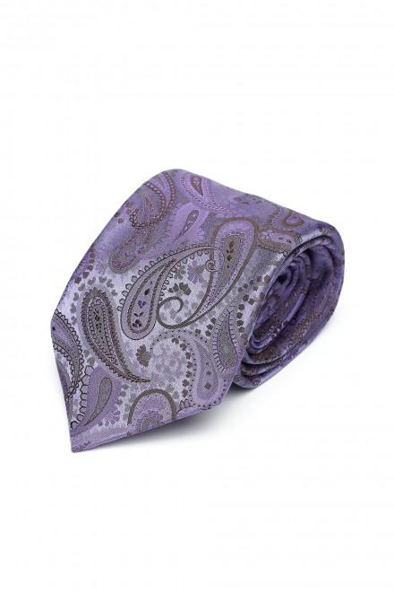 Фиолетовый галстук ручной работы в классический пейслейский принт Dolcepunta