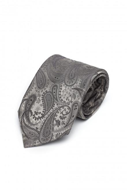 Галстук и платок мужские серый с рисунком Dolcepunta