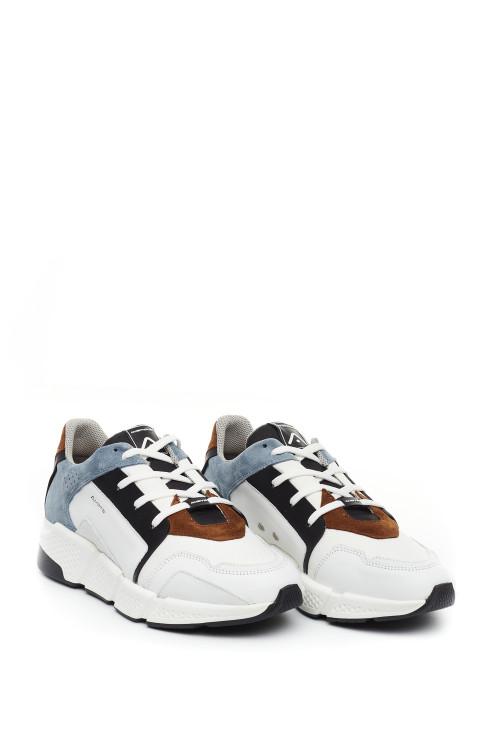 Кроссовки белые со вставками Ambitious