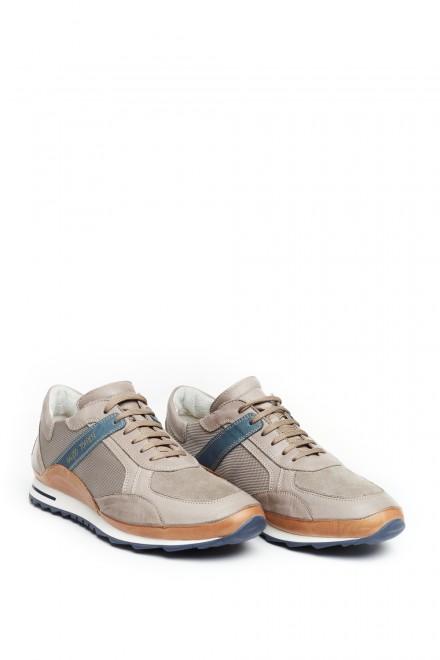 Туфли спортивные мужские светлые с контрастными вставками Galizio Torresi