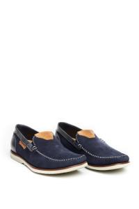 Туфли мужские синие с разноцветными вставками Galizio Torresi