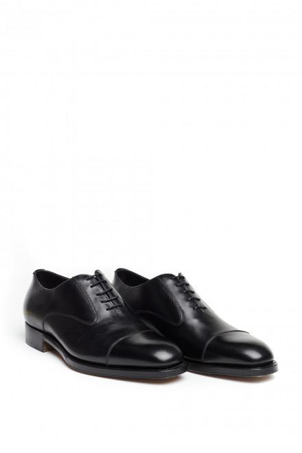 Черные оксфорды с отрезным носком Fratelli Rossetti
