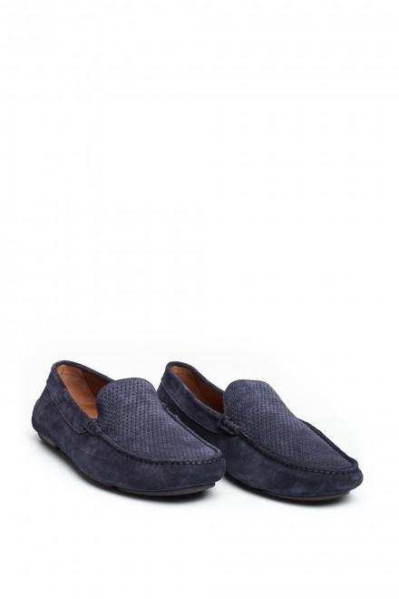 Мокасины синие Fratelli Rossetti