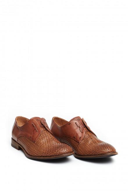 Туфли мужские дерби на шнуровке из плетеной кожи Paradigma