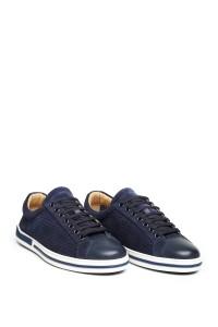 Туфли спортивные синие с перфорацией на шнуровке Galizio Torresi