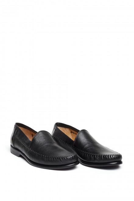 Туфли мужские кожаные кожаные с овальным носком Galizio Torresi