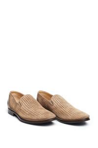 Туфли мужские бежевые с перфорацией Galizio Torresi