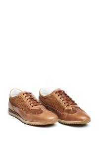 Туфли спортивные мужские коричневые с перфорацией Galizio Torresi