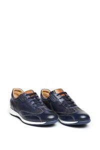 Кроссовки мужские синие на шнурках с контрастной подошвой Galizio Torresi