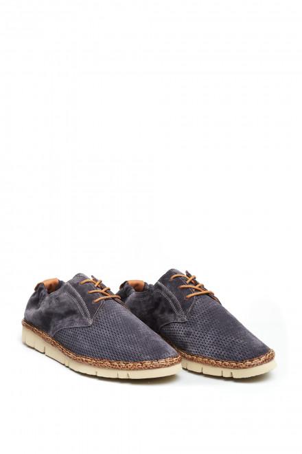 Туфли мужские дерби летние синие Watson&Parker