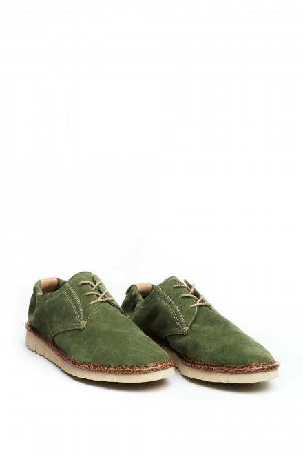 Туфли дерби мужские зеленые Watson&Parker