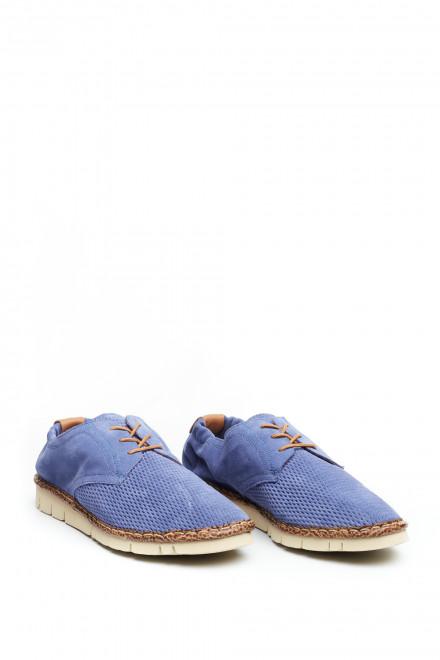 Туфли мужские фиолетовые на шнурке с перфорацией Watson&Parker