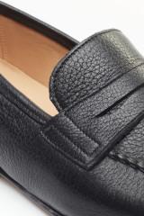 Лоферы мужские кожаные с лопаткой черные Barker